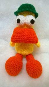 Pato, amico di Pocoyo, amigurumi, idea regalo