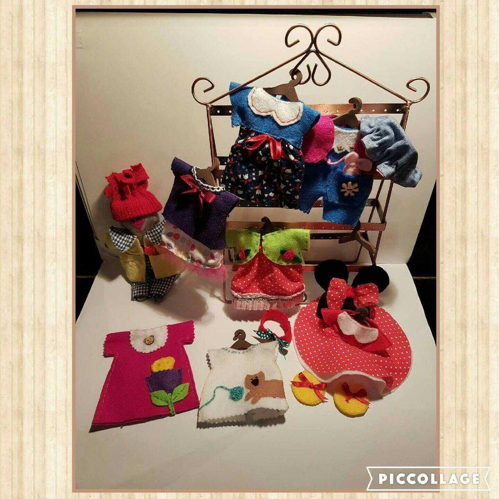 Doll Mouse con i suoi vestiti