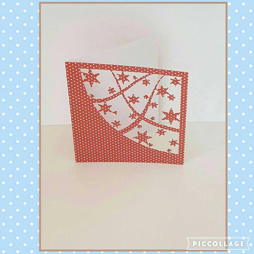 CHRISTMAS ABSTRACT CARD Biglietto