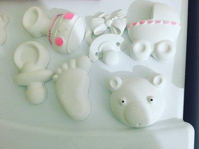 Gessetti nascita battesimo polvere di ceramica