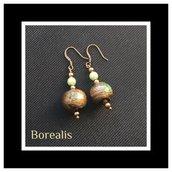 Orecchini in perle di Boemia e perle di vetro