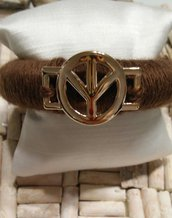 BRACCIALE PEACE BANGLE DA DONNA IN LANA IDEA REGALO