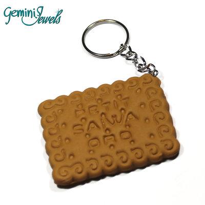 Portachiavi in fimo biscotto oro saiwa