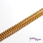 Lotto 20 perle tonde in vetro cerato 6mm giallo oro