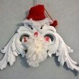 Babbo Natale decorazione a fregio in legno