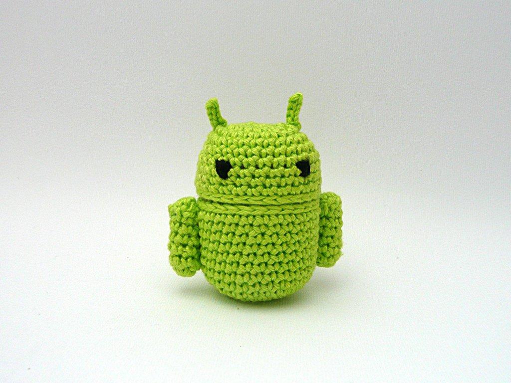 Android portaoggetti amigurumi uncinetto (realizzabile su ordinazione)