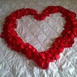 1000 petali rossi, matrimonio, san valentino, petali finti per decorare