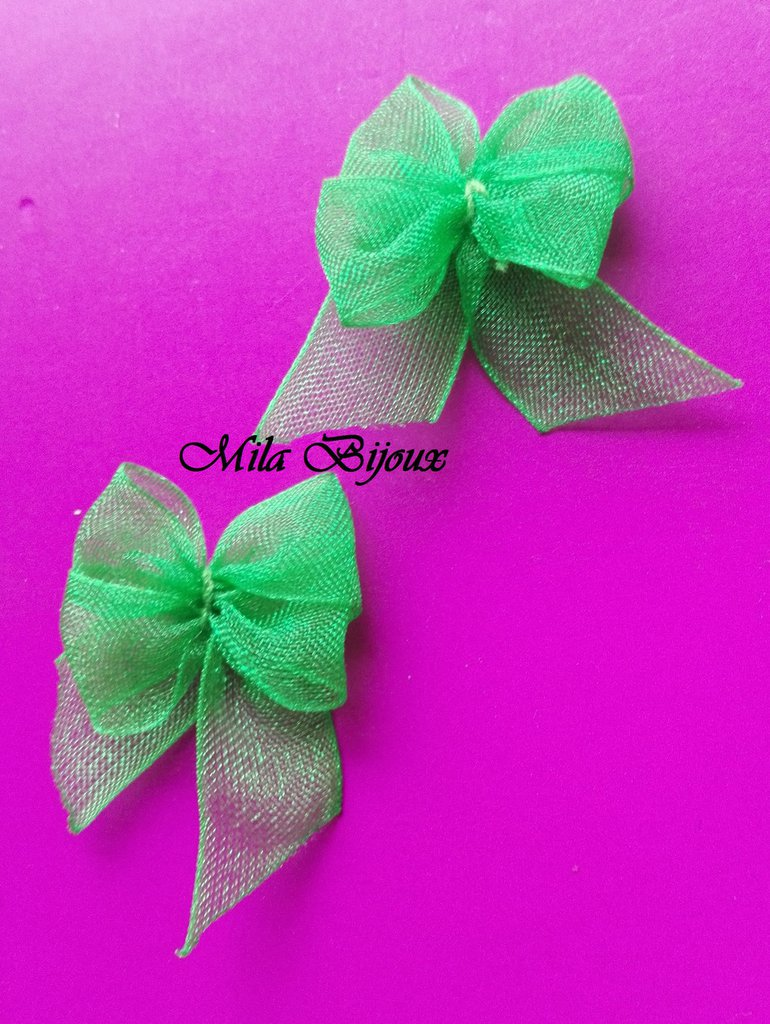 fiocco verde organza