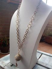 Collana bronzo e oro