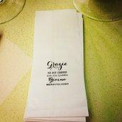 Sacchettini in carta bianca per confettatta con timbro grazie