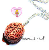 Collana Horror - Con cervello umano - sangue - hadmade goth