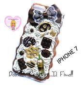 Cover Iphone 7 - panna cioccolato fiocco handmade cookie biscotti caramelle fiocco di neve orso