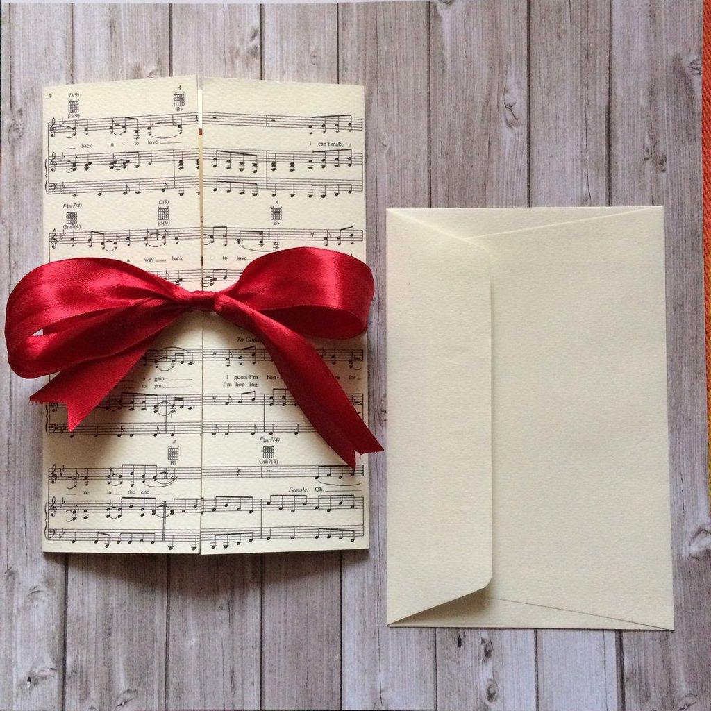 Favoloso Partecipazioni matrimonio tema musica - Feste - Matrimonio - di  OJ74
