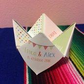 Menu origami personalizzabile