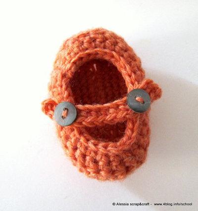 """Pattern - spiegazione per SCARPINE NEONATO """"clean & simple"""" a uncinetto crochet (idea regali di Natale)"""