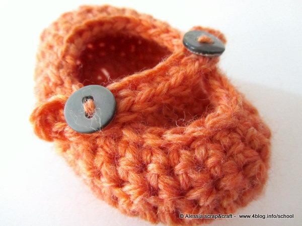 """Pattern - spiegazione per SCARPINE NEONATO """"clean & simple"""" a uncinetto crochet (idea regali di Natale, nascita e bomboniere)"""