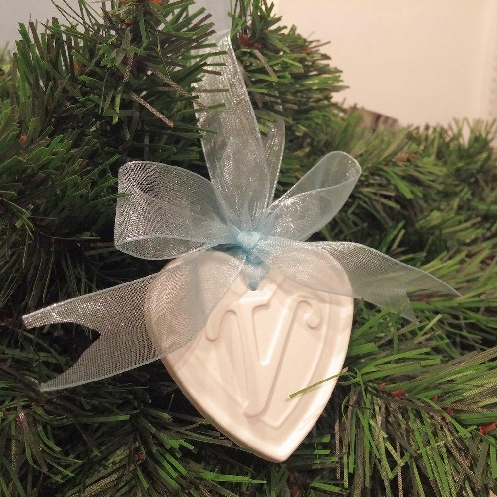 Il mio primo Natale - Cuore in gesso - Decorazione per albero