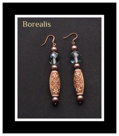 Orecchini in perle di Boemia e cristalli