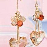 Orecchini con cristalli swarovski idea regalo Natale con cuori