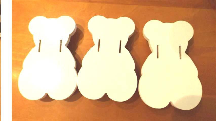 INSERZIONE PER MARCO - lotto orsetti lettino culla - legno - no fimo