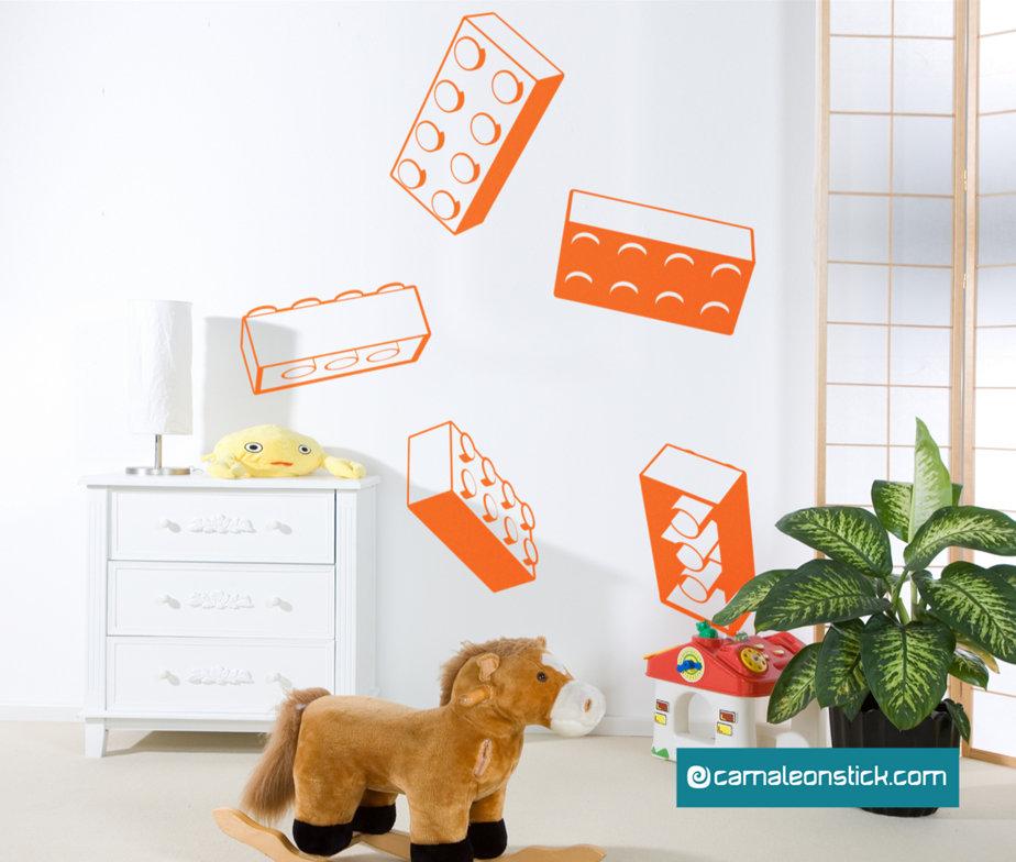Lego - adesivo murale per bambini - sticker da parete Lego
