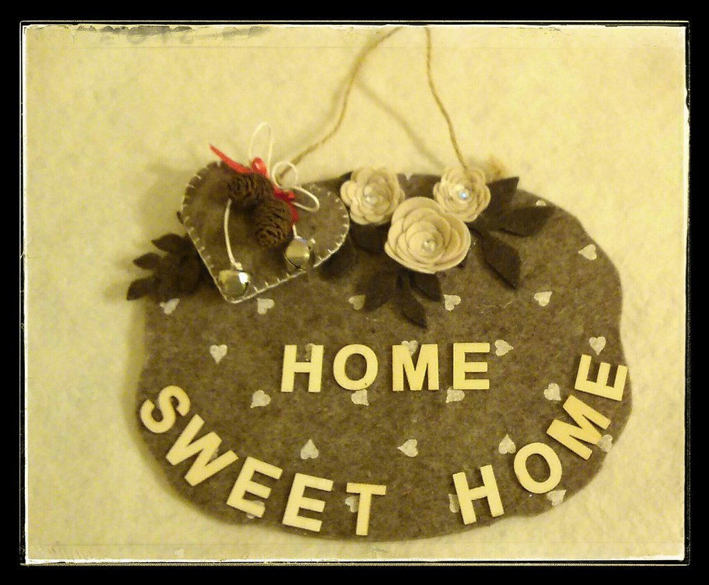 Targa fuori porta home sweet home