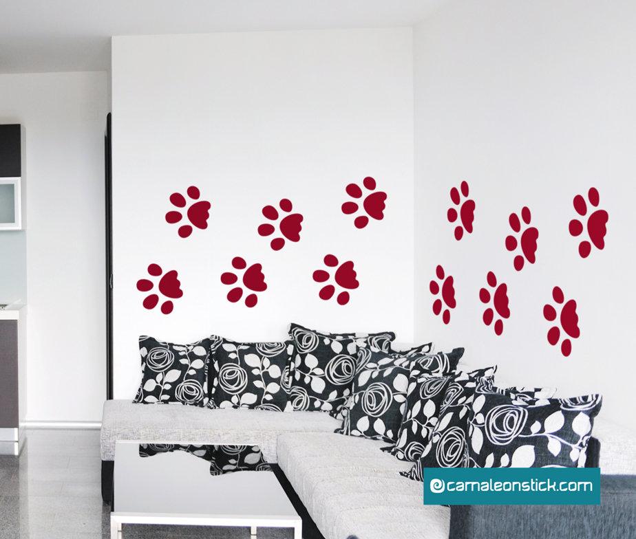 Orme - adesivo murale per bambini - sticker da parete animali