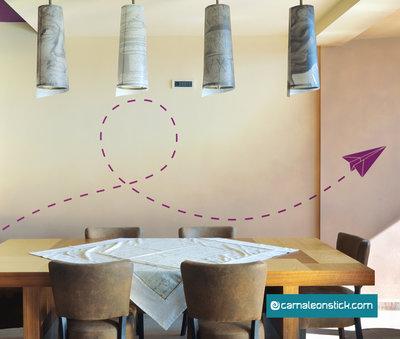 Aereo origami - adesivo murale per bambini - sticker da parete aereo