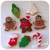 biscotti decorati natalizi,versione mini,  idea regalo natale