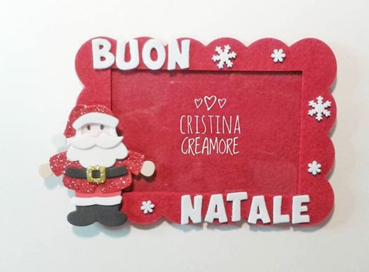 CORNICE PORTAFOTO Babbo Natale