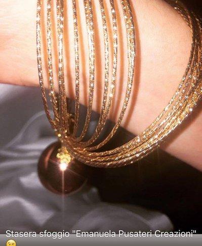 Bracciali Rigidi con perle