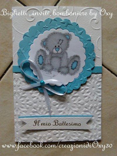 Invito / Battesimo / Nascita / Compleanno  / azzurro.