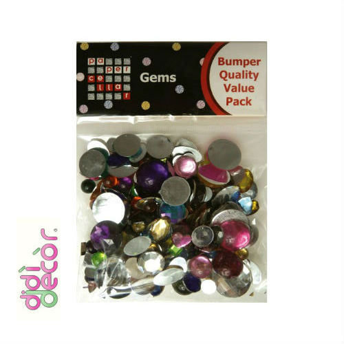 Confezione gemme acriliche assortite