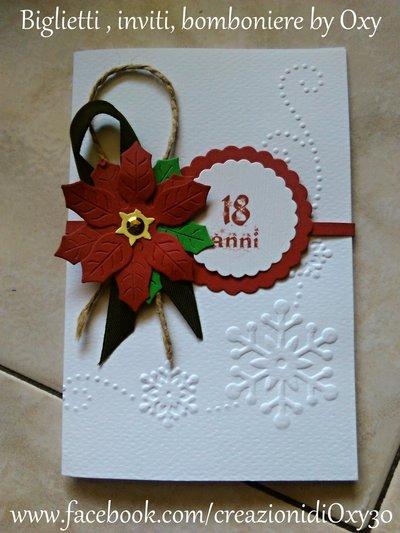 Biglietto d'auguri / Invito / Natale / Stella di Natale.