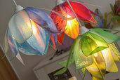 lampadario fiori di loto pendenti