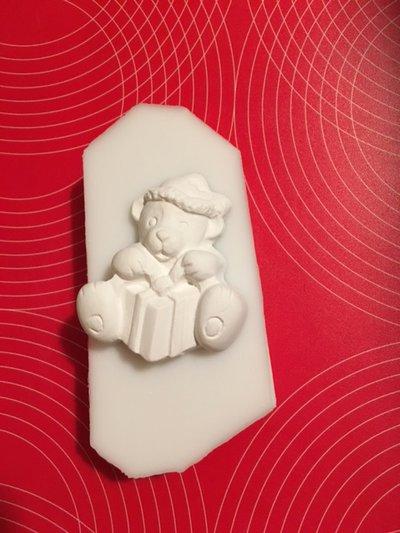 Stampo silicone NON ALIMENTARE orsetto con pacco regalo