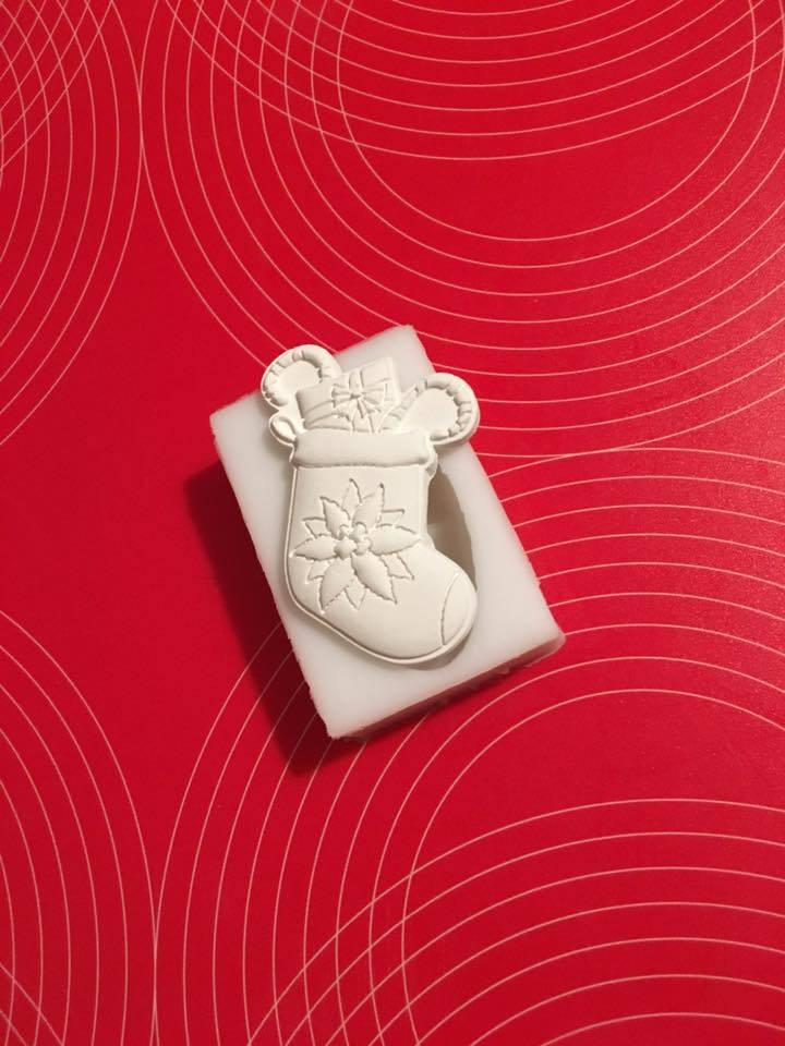 Stampo silicone NON ALIMENTARE stivaletto piccolo con doni