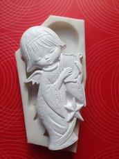 Stampo silicone NON ALIMENTARE angelo con cetra