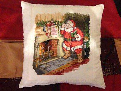 Babbo Natale ricamato a punto croce