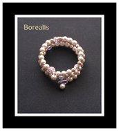Bracciale molla armonica perle di Boemia e cristalli