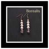 Orecchini perle di Boemia e cristalli