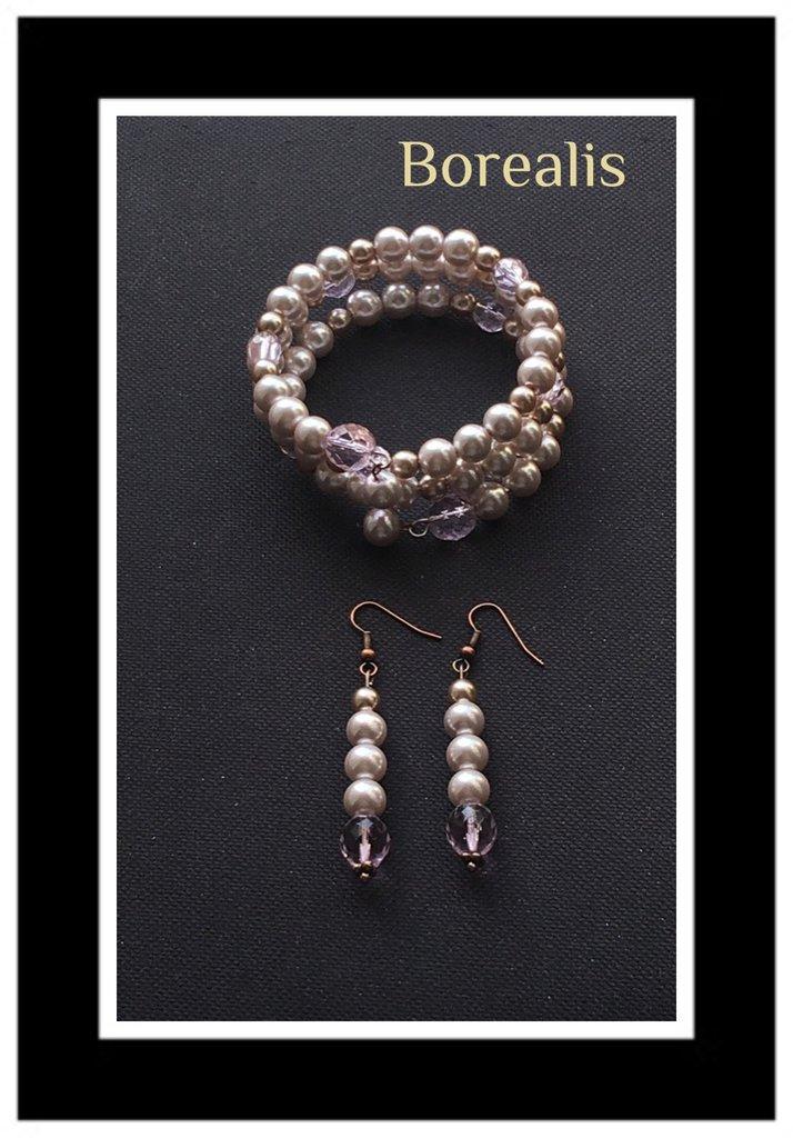Parure perle di Boemia e cristalli
