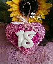 10 pezzi - Segnaposto 18° compleanno