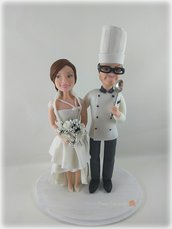 Caricatura wedding cake topper
