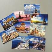Tableau mariage tema cartoline viaggi