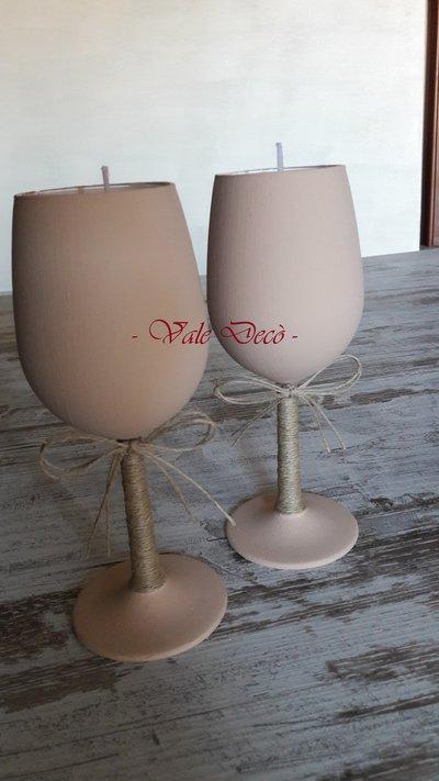 Candele handmade in calice di vetro