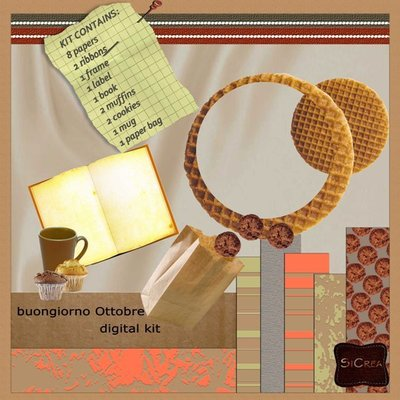 "Digital Kit ""Buongiorno Ottobre"""