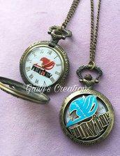 Collana orologio Fairy Tail logo manga fantasy anime japan fumetti serietv magia