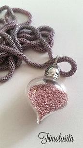 Collana in vetro con micro perline realizzata a mano :)