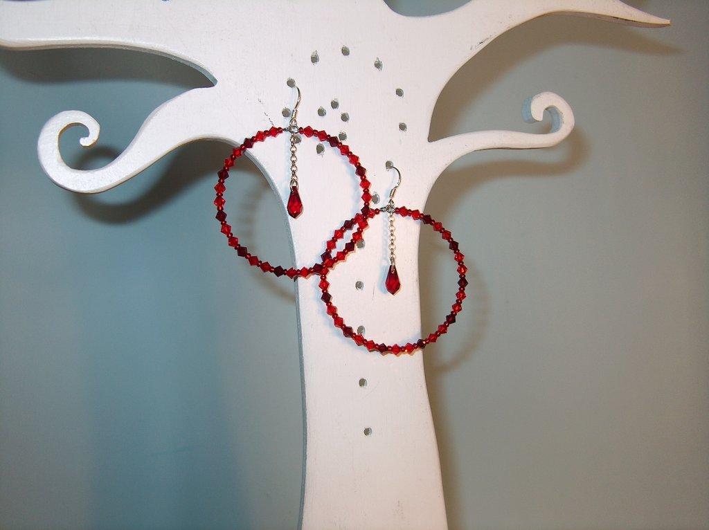 orecchini cerchioni in Swarovski